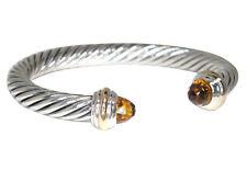 David Yurman 7MM Citrin 14K Gelbgold & Sterlingsilber Armreif Armband