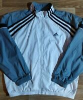 Adidas 90's Vintage Mens Tracksuit Top Jacket Training White Gray Hype