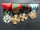 PL) Placard de médailles militaires françaises GUERRE 39/45 french medal