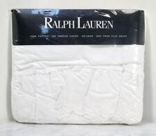 RALPH LAUREN Bromley White Twin Flat Sheet. Cotton 200 Thread USA. NEW