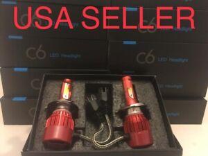 H4 12000K 12K LED Headlight Kit 9003 Light Bulbs - Opt 7 Super Purple