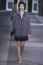 Louis Vuitton 100% AUTH Rare Wool Sequin Coat Fall/winter 2013 runway/S/36/grey