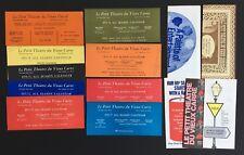 Lot of 9 Vtg Le Petit Theatre du Vieux Carre Season Calendar New Orleans 1968-77