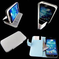 Samsung Galaxy S4  i9500 Retro Leather Folio Wallet Book Case Stand White