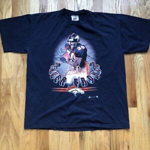 Men's Vintage 90's JOY Denver Broncos Terrell Davis Navy Blue T Shirt Tee Sz XL