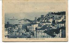 1922 Rio Marina Isola d'Elba Guller Livorno dest. Ponte a Moriano FP B/N VG ANIM