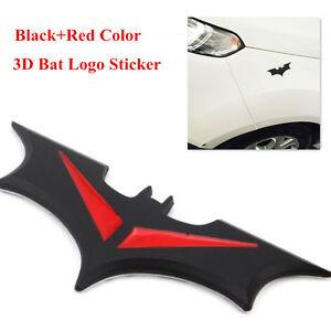 Universal Car Auto 3D Metal Bat Logo Sticker Badge Emblem Tail Decal Side Door