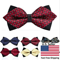 Classic 45-design Adjustable Men's Diamond Tip Bow Tie Evening Work Man Bow Ties