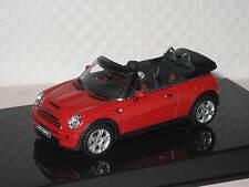 MINI Cooper S Cabrio Rosso 1:43 Autoart NUOVO & OVP 54849