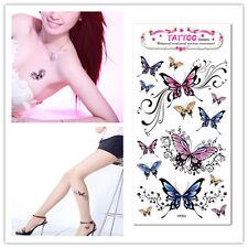 Beautiful Butterfly Body Art Temporary Tattoo Removable Waterproof Sticker Tatoo