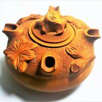 Vintage Mid Century Mod Italian Wood Grolla Grail Coffee Friendship Cup Italy