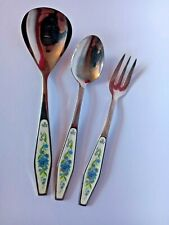 VERY RARE SET OF ROYAL ALBERT FLOWER OF THE MONTH JULY CUTLERY