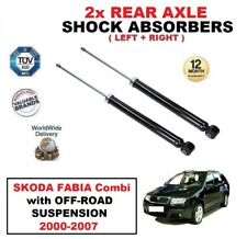 2x REAR SHOCK ABSORBERS for SKODA FABIA Combi with OFF-ROAD SUSPENSION 2000-2007