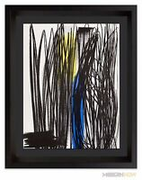 Hans HARTUNG Original COLOR LIMITED Edition LITHOGRAPH 1973 +Custom FRAMING