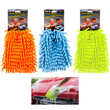 2pc Chenille Mit Cleaning Microfiber Glove Auto Washing Car Wash Dust Home Clean