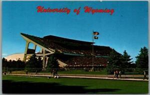 "1960s UNIVERSITY OF WYOMING Postcard ""War Memorial Stadium"" Laramie WY Unused"