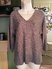 Womens Coldwater Creek Scoop Neck Multi-Color Sweater-Size M