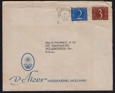 NETHERLANDS 1956 Letterhead COVER to USA @D6006