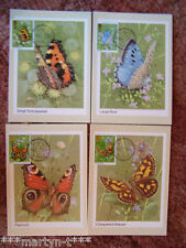 PHQ Stamp card set FDI (Front) No 51 Butterflies 1981. 4 card set Mint Condition