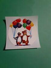 vintage 80's Lisa Frank bear & penguin sticker *restored*(free ship $20 min)