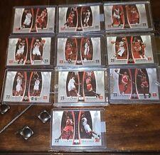 2005-06 UPPER DECK MICHAEL JORDAN LEBRON JAMES DUAL BOX TOPPER LOT (10 card set)