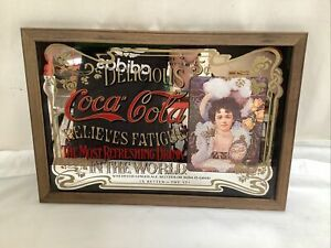Vintage Style Coca Cola Relieves Fatigue Collectable Mirror Picture Home Bar