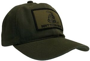 Don't Tread On Me 'Dad' Cap 100% Unstructured Cotton Hat OD Green