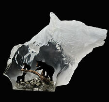 "Starlite Originals ""Black Bear Clan"" Sculpture Statue by Kitty Cantrell-New!"