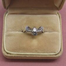 Sterling silver men's ring narrow band bird Hawk Eagle Falcon?? 925 silver Sz 11