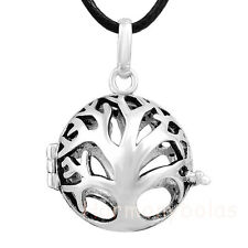 Family Tree Pendant for 20mm Ball Silver Plated Cage Pendant Angel Callers