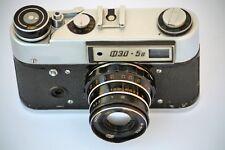 Fed 5b 35mm cámara telemétrica Con Lente 61L/D 55mm 2.8 Industar URSS Vintage Russ