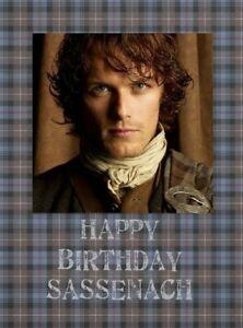 Outlander Gift Jamie Fraser Birthday Card