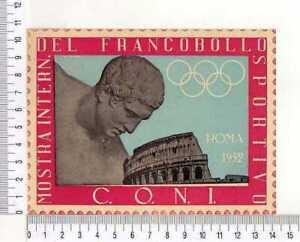 """13084) ITALIA 22.3.1952 FDC C.O.N.I. """"1^ Mostra Int. del Francobollo sportivo"""