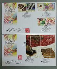 Signed Malaysian Batik Malaysia First Day Cover 2017