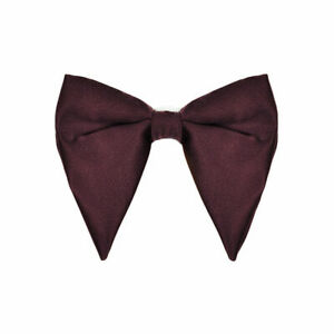 Men Solid Satin Oversized Big Bow Tie Wedding Party Tuxedo Business Bow Tie