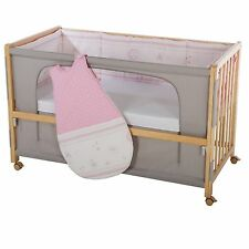 Roba Room Bed Kinderbett Beistellbett Glücksengel rosa 60x120 cm Holz natur NEU