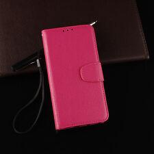 Classic Flip Magnetic PU Leather Kickstand Card Pocket Case Cover Rubber Bumper
