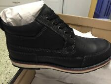 Sanita Mens Ankle Boot Soft Leather Work Casual Black Sz 42 New In Box