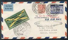 BRAZIL 1930, Zeppelin Flight franked w/scarcer Sc #4CL5 ($400) proper markings