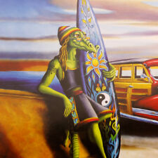 Woody Gary Soszynski Surreal Surf Liz Artwork Print Small 30x20cm Poster Picture