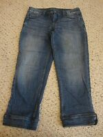 Women's SIMPLY VERA VERA WANG straight jean capris pants, 4