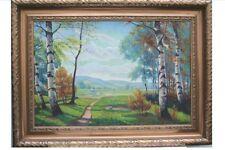 Sommerlandschaft mit Birken, Ölgemälde, 108 X 144 cm
