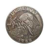 Gedenkmünzen für eiserne Goldwalfänger Sammeln Sie Silberdollar