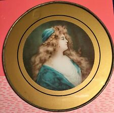 Vintage Victorian Young Girl In Blue Chimney Flue Cover
