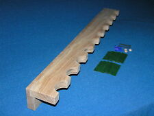 10 gun - wood closet gun rack - solid white oak construction