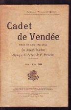 CADET DE VENDEE   PIECE EN CINQ TABLEAUX  GUEDON