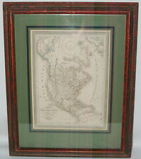 Antique 1834 Carte de L'Amerique Septentrionale Les Regions Polaires G Bovinet