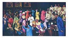 African American Art Print - Praising the Lord 22 x 38 - Hulis Mavruk - New!