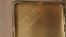 Sterling Silver Cigarette Case 1944 Brazil Desk Vintage Antique Sticky Note Pad