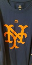 Majestic MLB New York NY Logo Mets Large New with Tags Blue Orange Citifield